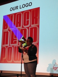 "Malaika Salaam presenting, ""Black Nerd Power."""