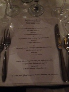 The four-course 12th anniversary menu at Bari Ristorante.