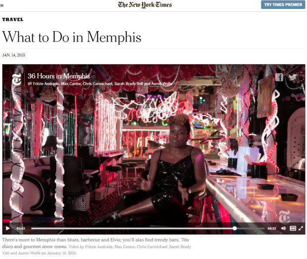 "The New York Times' ""What to Do in Memphis"""